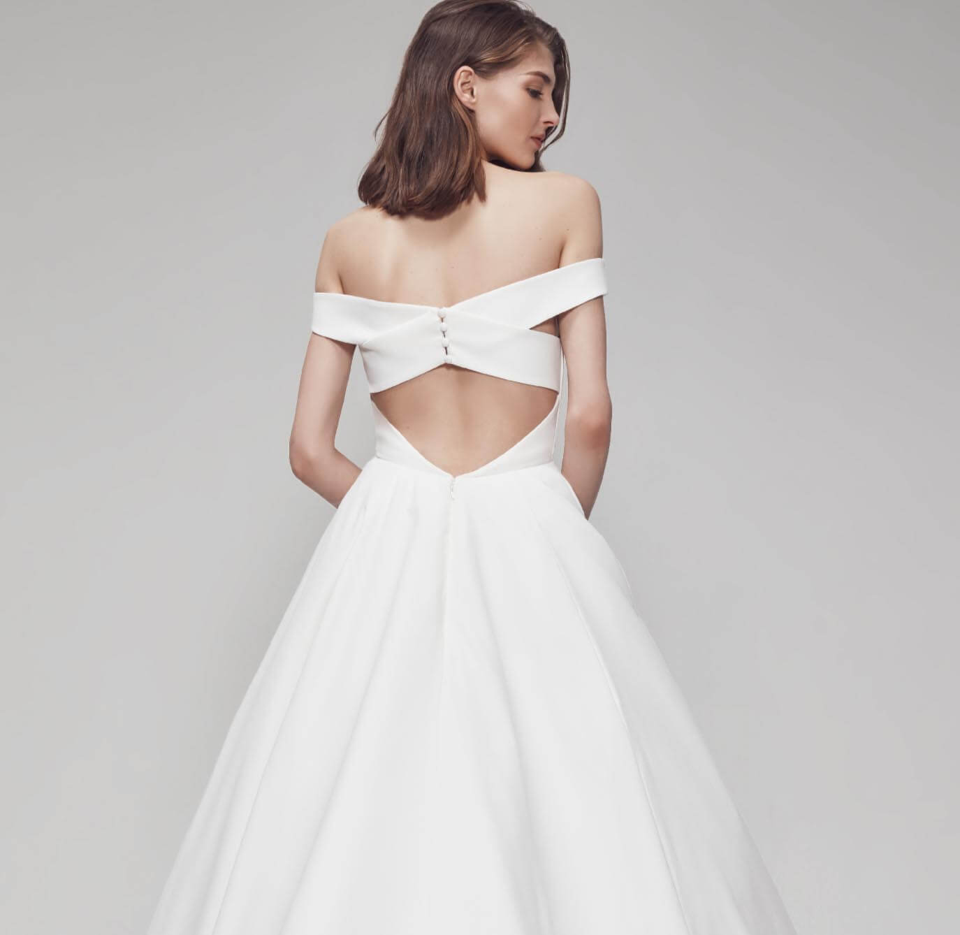 Model wearing a bridal collection gown