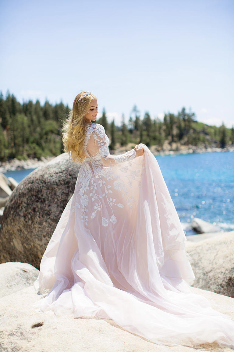 Hayley paige long sleeve bridal gown2