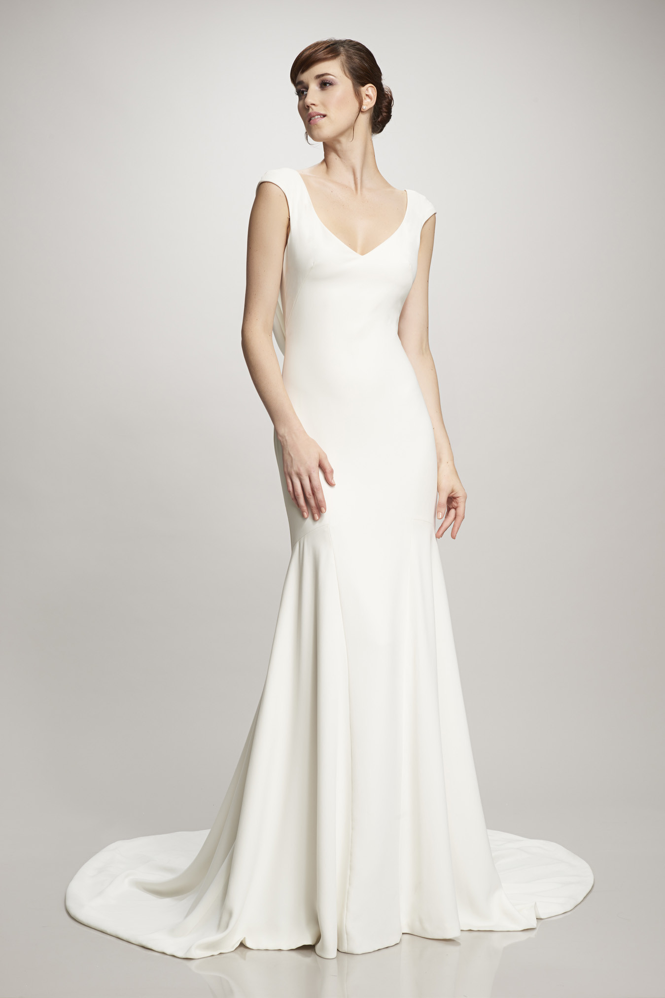 What We're Loving: Clean & Simple Wedding Gown Trend. Desktop Image